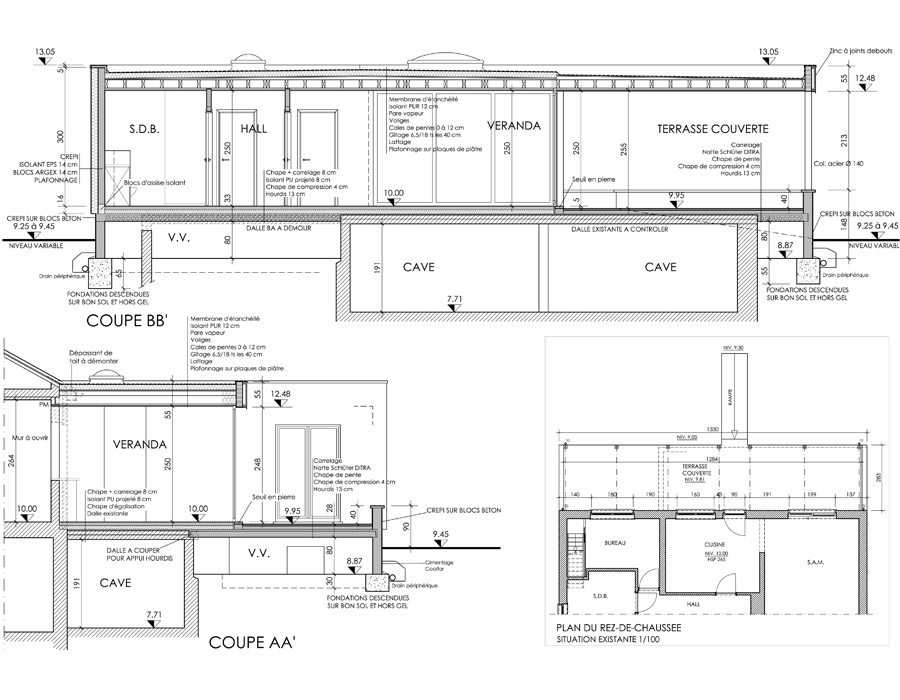 Plan D Extension D Une Habitation Unifamiliale